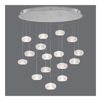 Fine Art Lamps Natural Inspirations 16 Light Drop Light in Platinized Silver Leaf 862840-12ST