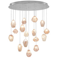 Fine Art Lamps Natural Inspirations 16 Light Drop Light in Silver Leaf 862840-14ST