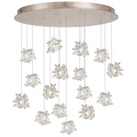 Natural Inspirations 16 Light 32 inch Gold Toned Silver Leaf Pendant Ceiling Light