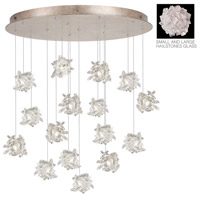 Natural Inspirations 16 Light 32 inch Gold-Toned Silver Leaf Drop Light Ceiling Light