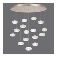 Fine Art Lamps Natural Inspirations 16 Light Drop Light in Gold-Toned Silver Leaf 862840-22ST