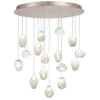 Fine Art Lamps Natural Inspirations 16 Light Drop Light in Gold-Toned Silver Leaf 862840-23ST