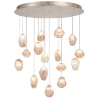 Fine Art Lamps Natural Inspirations 16 Light Drop Light in Gold-Toned Silver Leaf 862840-24ST