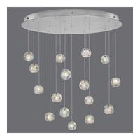 Fine Art Lamps 862840-106ST Natural Inspirations 16 Light 32 inch Silver Drop Light Ceiling Light