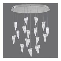Fine Art Lamps 862840-108ST Natural Inspirations 16 Light 32 inch Silver Drop Light Ceiling Light
