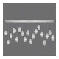 Fine Art Lamps Natural Inspirations 16 Light Pendant in Platinized Silver Leaf 863040-101ST