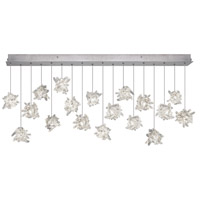 Natural Inspirations 16 Light 17 inch Platinized Silver Leaf Pendant Ceiling Light