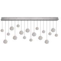 Fine Art Lamps 863040-105ST Natural Inspirations 18 Light 54 inch Silver Drop Light Ceiling Light