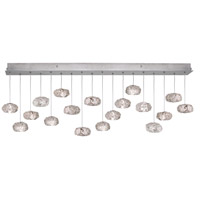 Fine Art Lamps Natural Inspirations 16 Light Drop Light in Platinized Silver Leaf 863040-11ST