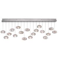 Fine Art Lamps 863040-11ST Natural Inspirations 18 Light 17 inch Silver Pendant Ceiling Light