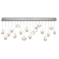 Fine Art Lamps 863040-13ST Natural Inspirations 18 Light 17 inch Silver Pendant Ceiling Light
