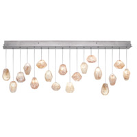 Natural Inspirations 16 Light 17 inch Silver Leaf Drop Light Ceiling Light