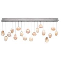 Fine Art Lamps 863040-14ST Natural Inspirations 18 Light 17 inch Silver Pendant Ceiling Light