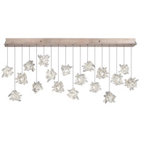 Natural Inspirations 16 Light 17 inch Gold Toned Silver Leaf Pendant Ceiling Light