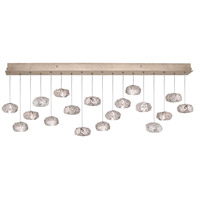 Natural Inspirations 16 Light 17 inch Gold-Toned Silver Leaf Drop Light Ceiling Light