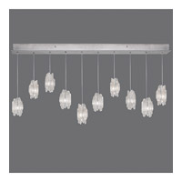 Fine Art Lamps Natural Inspirations 10 Light Pendant in Platinized Silver Leaf 863240-101ST