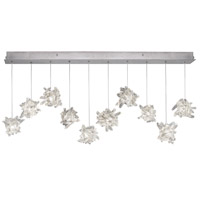 Fine Art Lamps Natural Inspirations 10 Light Pendant in Platinized Silver Leaf 863240-102ST