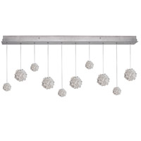Natural Inspirations 10 Light 48 inch Silver Leaf Drop Light Ceiling Light