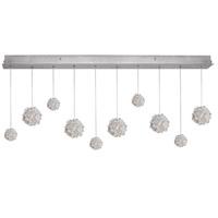 Fine Art Lamps 863240-105ST Natural Inspirations 10 Light 48 inch Silver Drop Light Ceiling Light