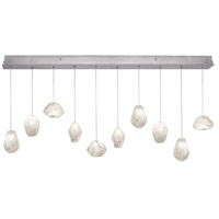 Fine Art Lamps Natural Inspirations 10 Light Drop Light in Silver Leaf 863240-13ST