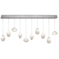 Fine Art Lamps 863240-13ST Natural Inspirations 10 Light 11 inch Silver Pendant Ceiling Light