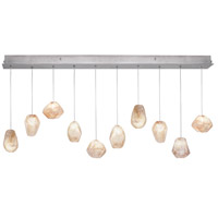 Fine Art Lamps Natural Inspirations 10 Light Drop Light in Silver Leaf 863240-14ST