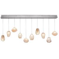 Fine Art Lamps 863240-14ST Natural Inspirations 10 Light 11 inch Silver Drop Light Ceiling Light