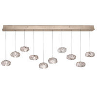 Natural Inspirations 10 Light 11 inch Gold-Toned Silver Leaf Drop Light Ceiling Light
