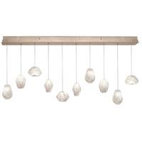 Fine Art Lamps 863240-23LD Natural Inspirations Led 10 Light 48 inch Gold Drop Light Ceiling Light