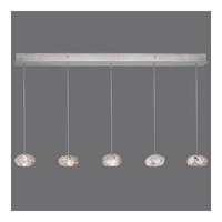 Natural Inspirations 5 Light 6 inch Platinized Silver Leaf Drop Light Ceiling Light