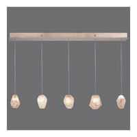 Natural Inspirations 5 Light 6 inch Gold-Toned Silver Leaf Drop Light Ceiling Light