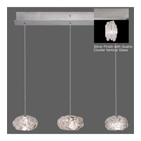Fine Art Lamps Natural Inspirations 3 Light Pendant in Platinized Silver Leaf 863440-101ST