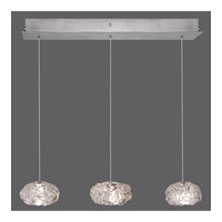 Fine Art Lamps Natural Inspirations 3 Light Drop Light in Platinized Silver Leaf 863440-11ST