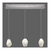 Fine Art Lamps Natural Inspirations 3 Light Drop Light in Silver Leaf 863440-13ST