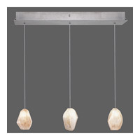 Fine Art Lamps Natural Inspirations 3 Light Drop Light in Silver Leaf 863440-14ST