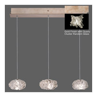 Fine Art Lamps Natural Inspirations 3 Light Pendant in Gold Toned Silver Leaf 863440-202ST