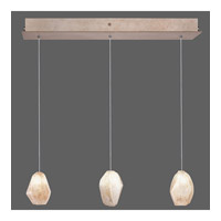 Fine Art Lamps Natural Inspirations 3 Light Drop Light in Gold-Toned Silver Leaf 863440-24ST