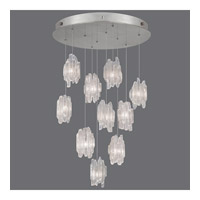 Fine Art Lamps Natural Inspirations 10 Light Pendant in Platinized Silver Leaf 863540-101ST