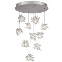 Fine Art Lamps Natural Inspirations 10 Light Pendant in Platinized Silver Leaf 863540-102ST