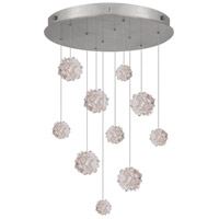 Natural Inspirations 10 Light 22 inch Silver Leaf Drop Light Ceiling Light
