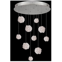 Fine Art Lamps 863540-105LD Natural Inspirations 10 Light 22 inch Silver Pendant Ceiling Light