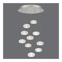 Fine Art Lamps Natural Inspirations 10 Light Drop Light in Platinized Silver Leaf 863540-12ST