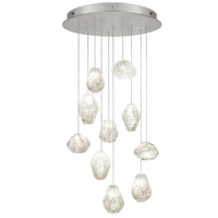 Fine Art Lamps Natural Inspirations 10 Light Drop Light in Silver Leaf 863540-13ST