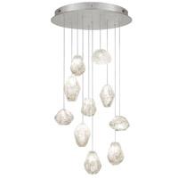 Fine Art Lamps 863540-13ST Natural Inspirations 10 Light 22 inch Silver Pendant Ceiling Light