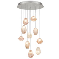 Fine Art Lamps Natural Inspirations 10 Light Drop Light in Silver Leaf 863540-14ST