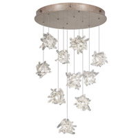 Natural Inspirations 10 Light 22 inch Gold Toned Silver Leaf Pendant Ceiling Light