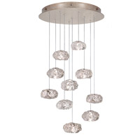 Fine Art Lamps Natural Inspirations 10 Light Drop Light in Gold-Toned Silver Leaf 863540-21ST