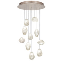 Fine Art Lamps Natural Inspirations 10 Light Drop Light in Gold-Toned Silver Leaf 863540-23ST