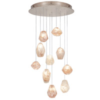Natural Inspirations 10 Light 22 inch Gold-Toned Silver Leaf Drop Light Ceiling Light