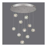 Natural Inspirations 10 Light 22 inch Silver Drop Light Ceiling Light